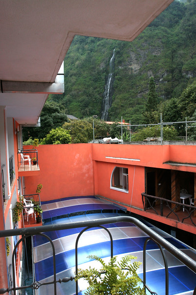 The view of the nearby waterfall from our balcony...  sigh...