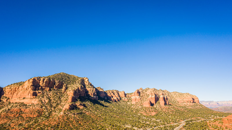 Rock formation in Sedona, Arizona with a clear blue sky