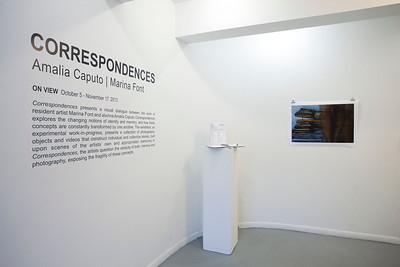 Correspondences, Amalia Caputo+MarinaFont, South Florida Art Center, Miami Beach - 2013