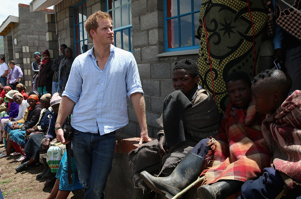 . Prince Harry during a visit to a herd boy night school constructed by Sentebale on December 8, 2014 in Maseru, Lesotho. Prince Harry was visiting Lesotho to see the work of his charity Sentebale. (Photo by Chris Jackson/Getty Images for Sentebale)