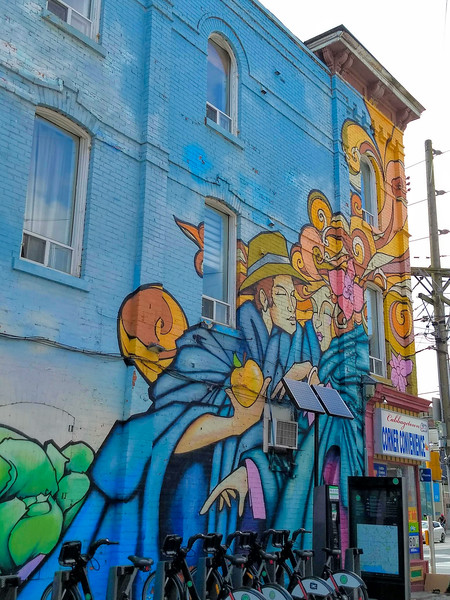 Mural in Cabbagetown, Toronto