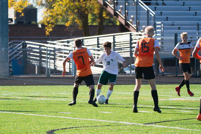 Holy Family Varsity Soccer vs. Delano, 9/19/19: Eric Oconitrillo '23 (18)
