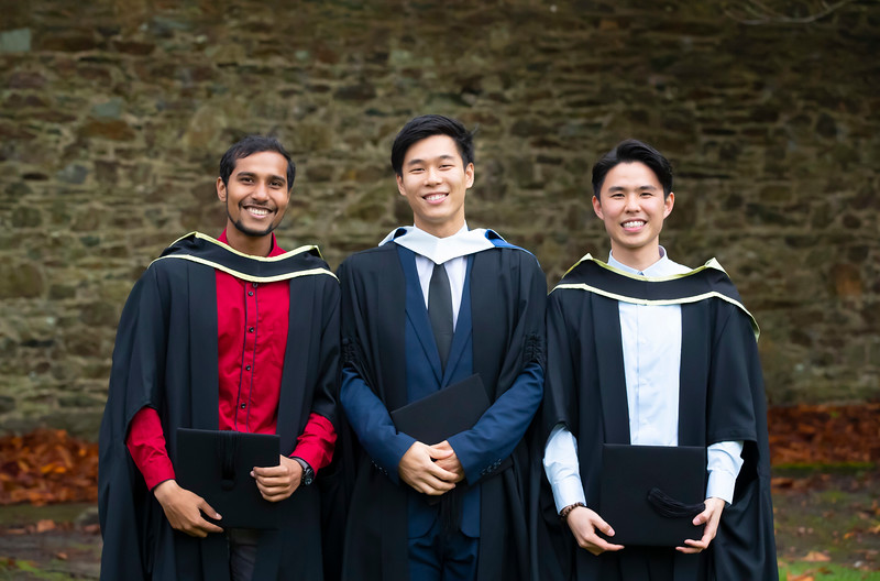 31/10/2019. Waterford Institute of Technology (WIT) Conferring Ceremonies. Pictured are Mizanur Rashid Bangladesh , Brian Chong, Siongjau Han from Malaysia and Waterford. Picture: Patrick Browne