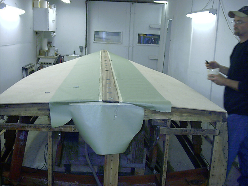 Keel cap glued in place.