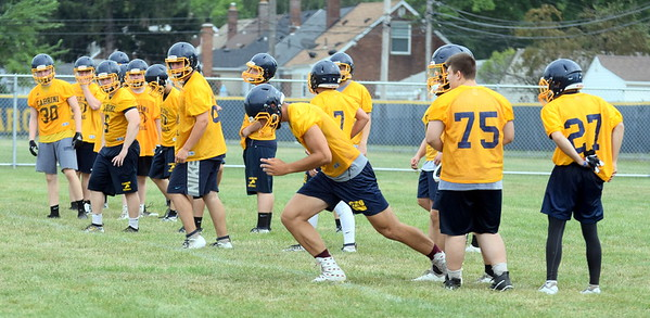 HS Sports - 1st Day Football Practice Cabrini