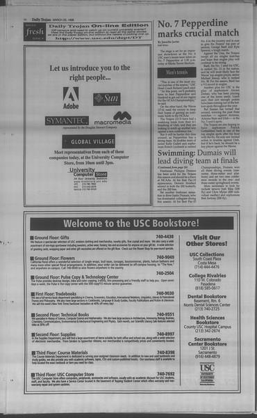 Daily Trojan, Vol. 133, No. 45, March 26, 1998