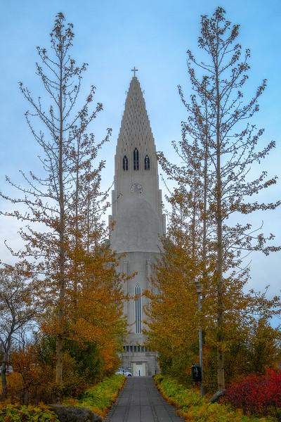 Hallgrímskirkja in Fall