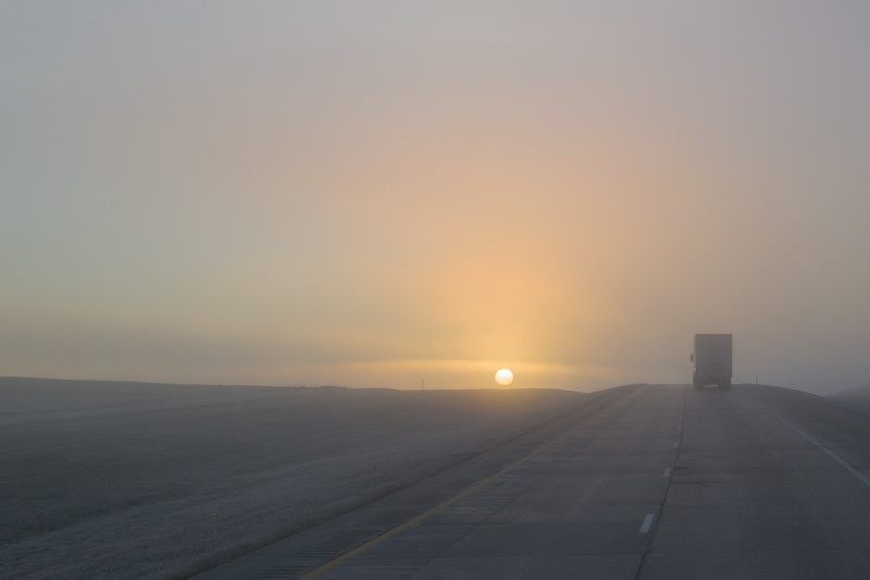 Foggy North Dakota Sunrise