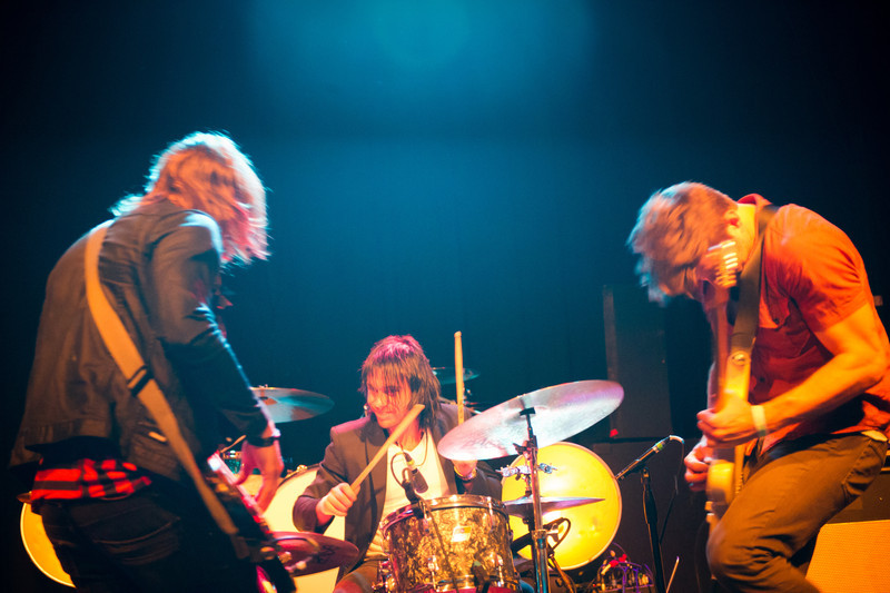 Ricky Jackson, Svend Lerche, and Ran Jackson of The Daylights perform at State Theatre in St. Petersburg, Florida on April 27, 2011
