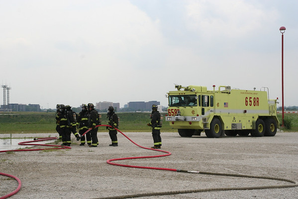 CHICAGO FIRE DEPARTMENT O'HARE INTERNATIONAL AIRPORT ARFF TRAINING ENGINE AND WHEEL ASSEMBLY FIRES (7.21.2010)