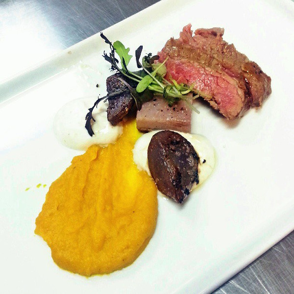 One_of_the_best_dishes_I_ve_had_on_Maui_from__MauiExeCatering._Grass_fed__organic_pasture_raised_flank_steak__in_Korean_coffee_marinade_with_Molokai_sweet_potato_pressure_cooked_taro__chili_yogurt.__More_incredible_is_Chef_Jeff_Scheer_s_devotion_to_f.jpg