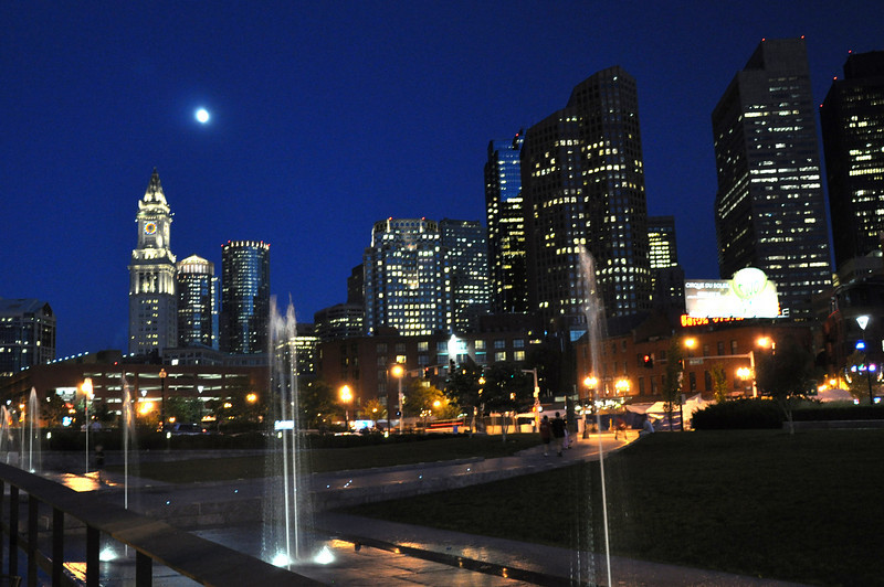 Night Skyline of Boston, Ma.  (I still need to figure out how to take pictures at night.)