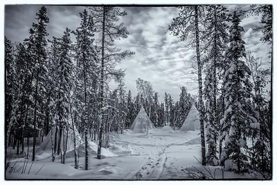 Winter sceneries  Yellowknife 2014