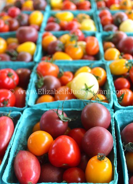 Heirloom tomatoes Easton Farmers' Market Saturday 8/2/2014