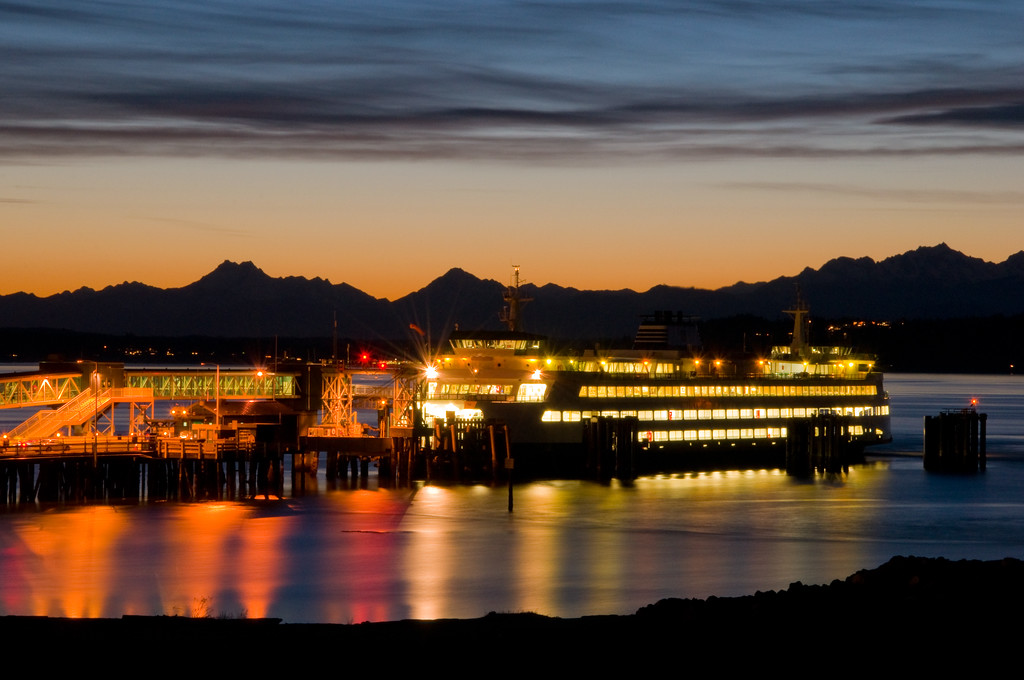 Edmonds Ferry at Sunset