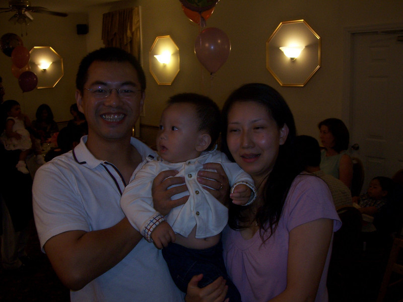 Ryan Liu at a party. With proud parents Stanley and Yang. (Sep 2006)