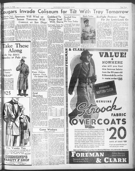 Daily Trojan, Vol. 28, No. 21, October 16, 1936