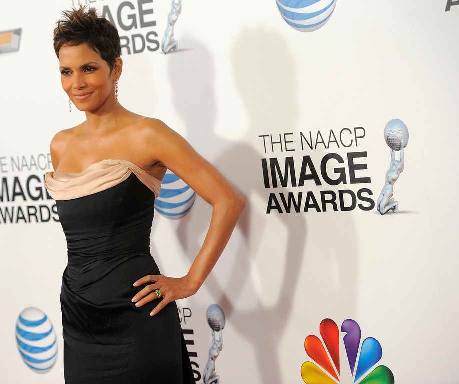 . Halle Berry arrives at the 44th Annual NAACP Image Awards at the Shrine Auditorium in Los Angeles on Friday, Feb. 1, 2013. (Photo by Chris Pizzello/Invision/AP)