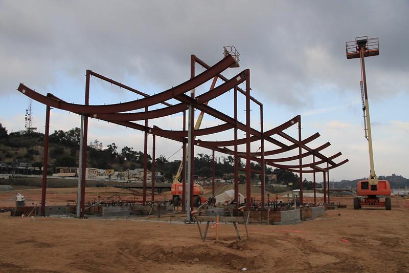 2014, Welcome Pavilion Construction