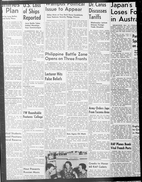 Daily Trojan, Vol. 33, No. 96, January 24, 1942