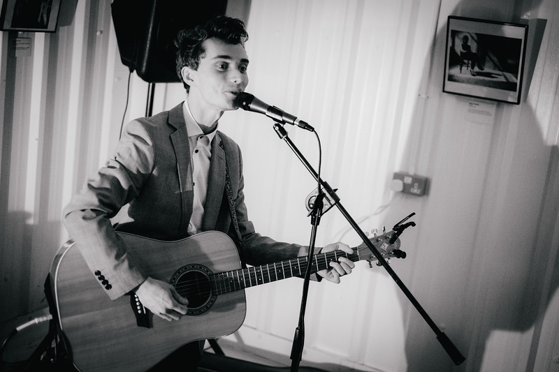 Chris Tavener performs at Arch Sixteen Cafe in Gateshead. 26.10.17