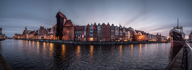 Evening on the Stara Motlawa Gdansk