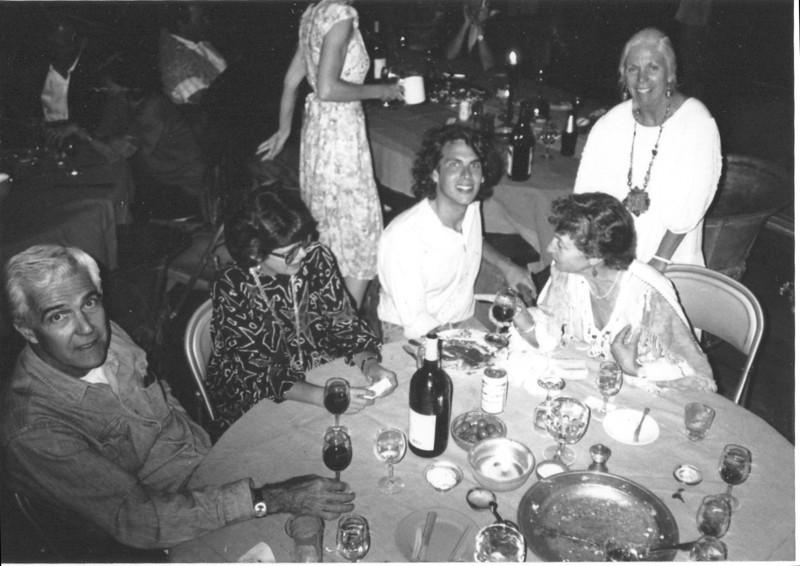 John Murray, Ginger Barber, Michael Chabon, Mimi Miller, Barbara Hall. Staff dinner.