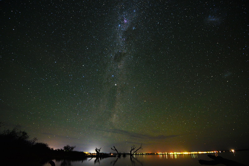 Milky Way at midnight over the Lake