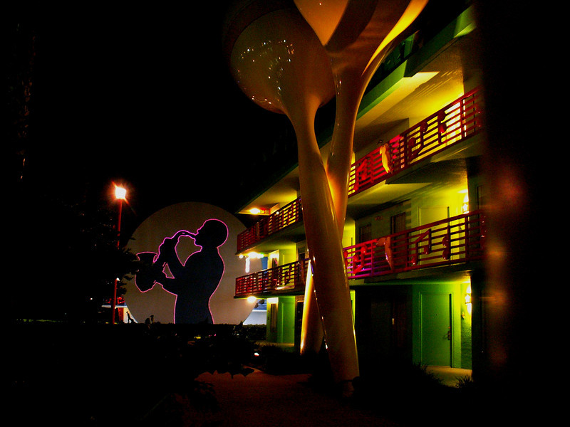 The All-Star Music Resort at Walt Disney World. I had to shoot this at 1AM to get a time exposure without people in it!