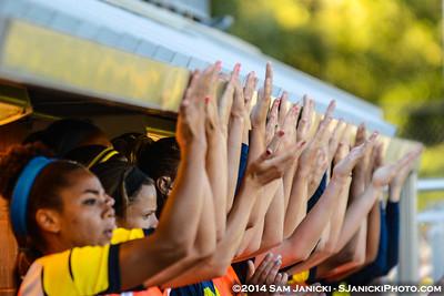 2nd Half of UM Women's Soccer Vs CMU 9-7-14