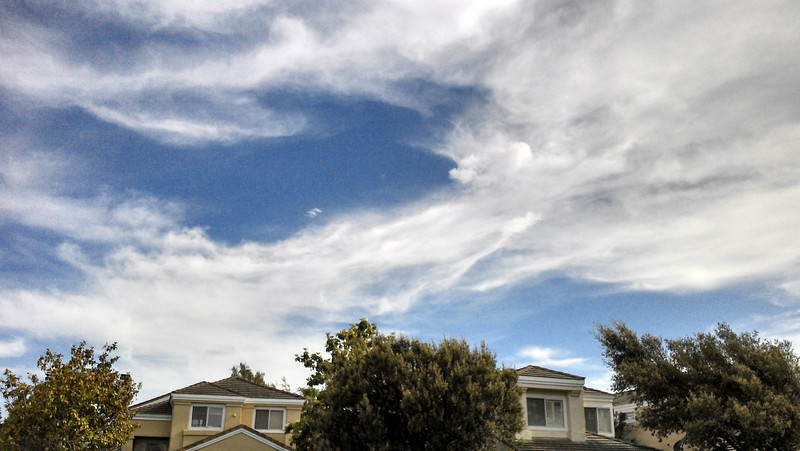 06/01/2013 - Interesting looking clouds in the southeastern skies....