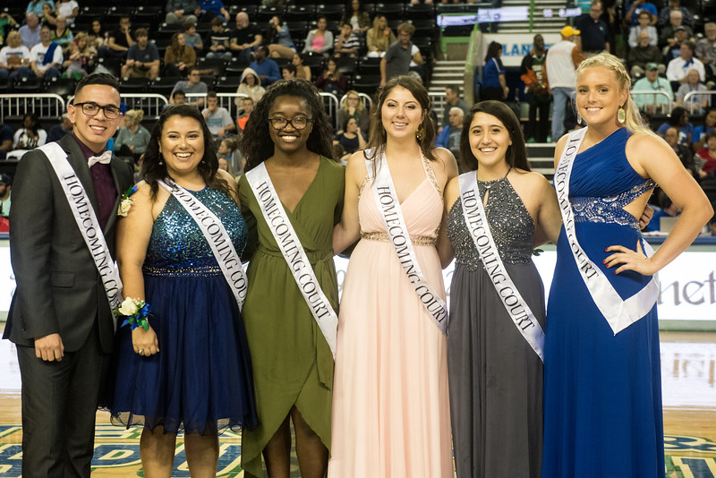 The 2017 Homecoming Court  durig halftime