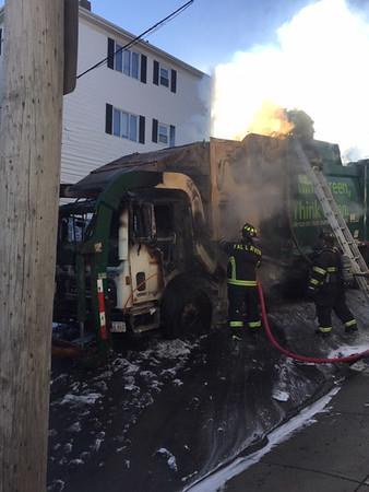 Trash Truck Fire - Fall River, MA - Unknown Date