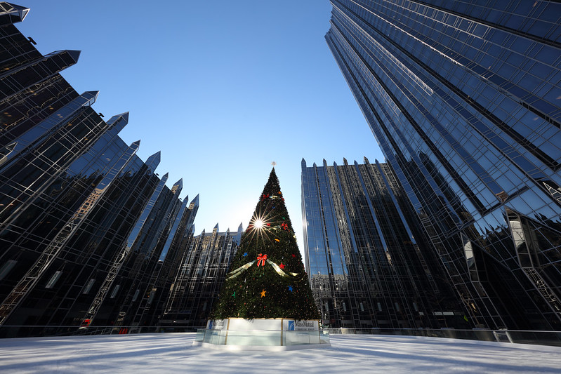 PPG Place Skating Rink and Christmas Tree, Pittsburgh