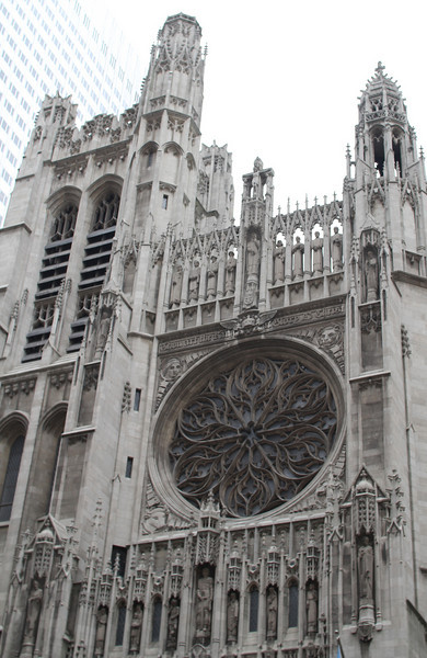section of St. Patrick's Cathedral exterior