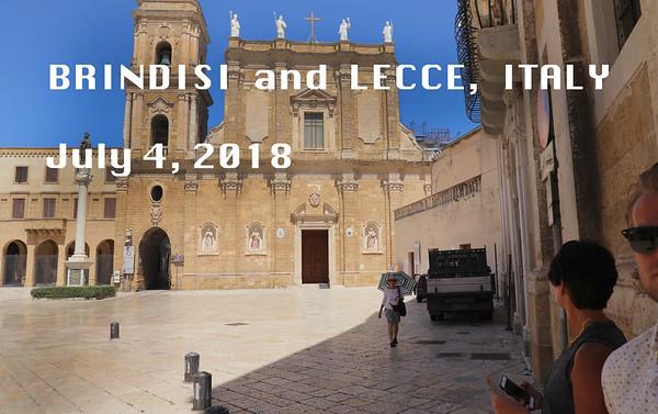 Brindisi/Lecce  July 4, 2018