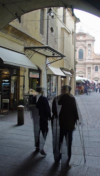 Old Friends - Broletto, Reggio Emilia, Italy - October 16, 2008