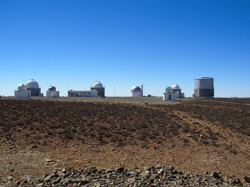 View of the telescopes at Sutherland, South Africa