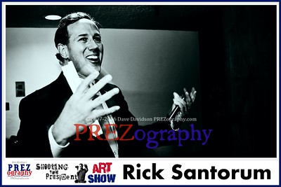Rick Santorum Best of Prezography Art Show
