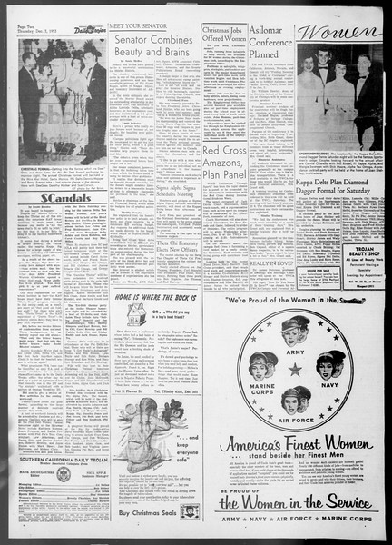 Daily Trojan, Vol. 45, No. 51, December 03, 1953