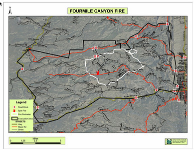 Four Mile Canyon Fire pics and maps