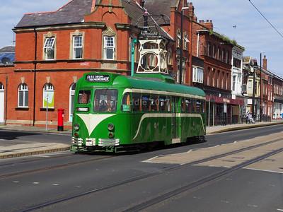 Heritage Trams in Fleetwood 27-08-2017