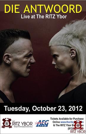 DIE ANTWOORD October 23, 2012