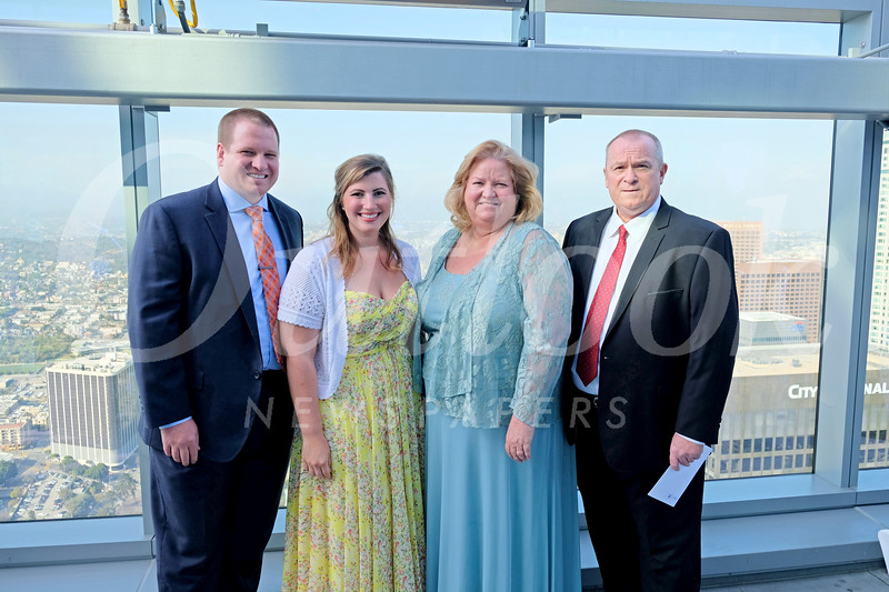 Andrew and Lauren Day, Adventist Health Glendale interim CEO Terri Day and Tim Day.jpg