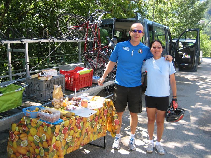 7_30 12 Andrea & Dorothy on bike path between Cortina and Cadore.JPG