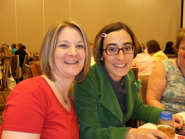 Heather with Teen Author Cecil Castellucci.jpg