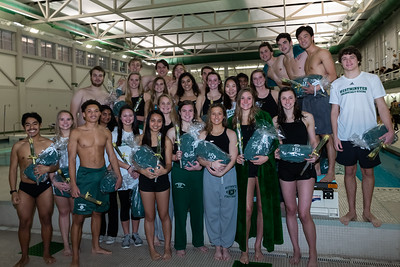 Swim and Dive Seniors January 30, 2019