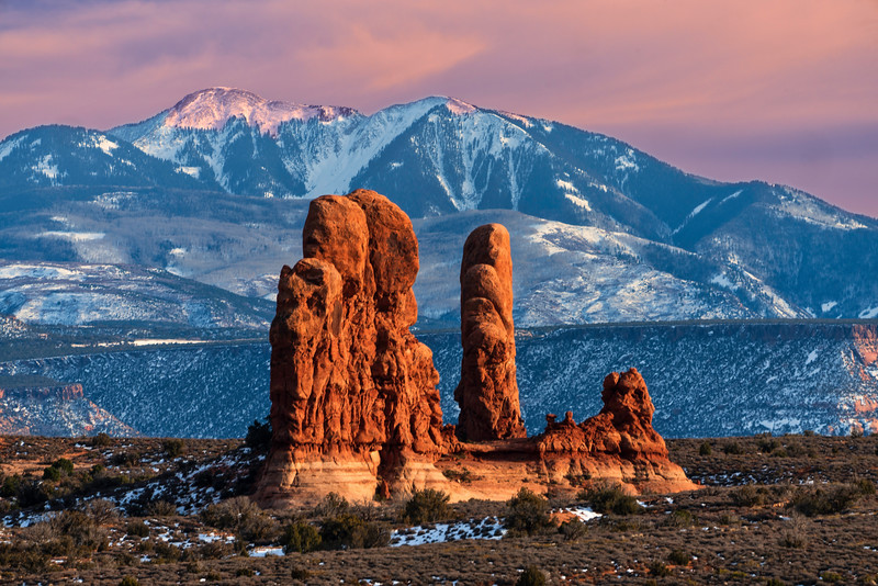 Spires and La Sal Mountains