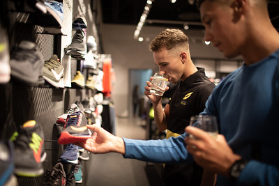 Athletes Visit the Nike Store