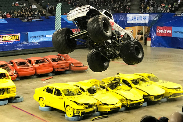 January 12, 2018. We see a HOT WHEELS sponsored TRUCK MONSTER SHOW in Cleveland's Wolstein Center